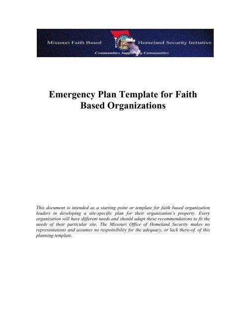 Faith Based Emergency Plan Template Ada County Emergency
