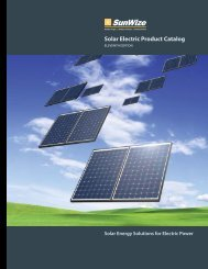 Solar Electric Product Catalog - Arrolectric Power Systems