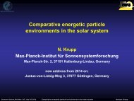 Comparative energetic particle environments in the solar system - VSP