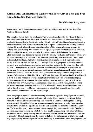 an analysis of the love teachings of kama sutra