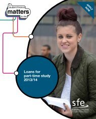 Loans for part-time study (2013/14) pdf - Student Finance England