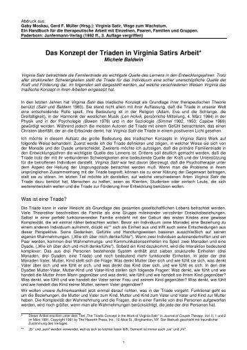 Das Konzept der Triaden in Virginia Satirs Arbeit - Münchner ...