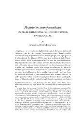 Magtstatens transformationer - Historisk Tidsskrift