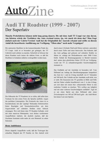 Autozine - Audi TT Roadster (1999 - 2007)