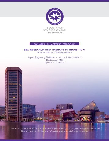 2013 Program Abstracts - Society for Sex Therapy and Research