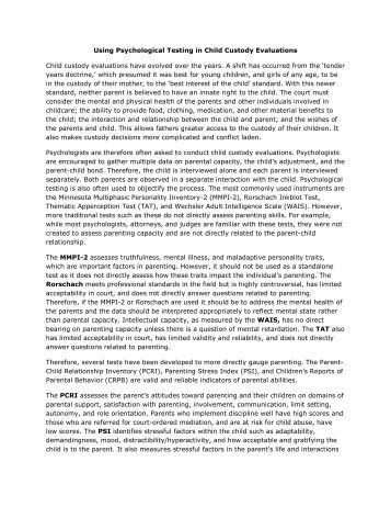 list of psychological tests pdf