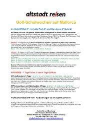 Golf-Schulwochen auf Mallorca