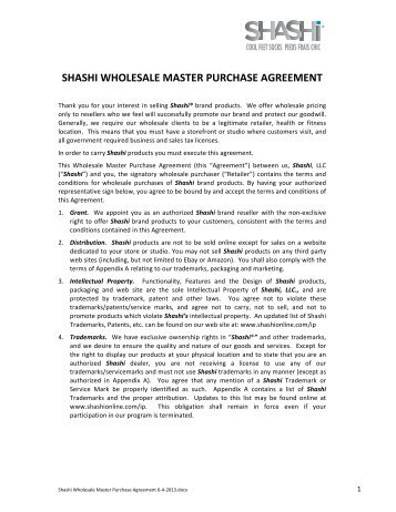 Master Agreement Commodity List Master Agreement Purchasing