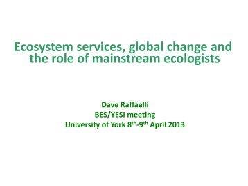 Dave Raffaelli presentation (PDF , 1904kb) - University of York