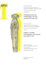 Siedlungsbefunde und Fundkomplexe der Zeit zwischen 800 und ...