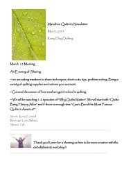 March 2013 - Marathon Quilter's Guild Home Page
