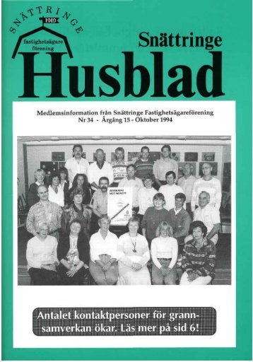 1994-3 - Snättringe fastighetsägareförening