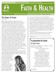 h aith ealth - St. John Health System