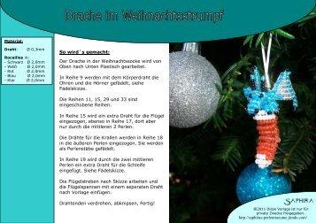 Anleitungs-Vorlage-Drache im Weihnachtsstumpf