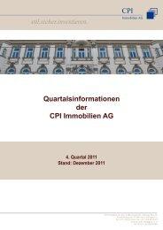 stil.sicher.investieren. - CPI Immobilien AG
