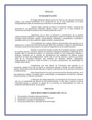 MANUAL DE CONVIVENCIA ESCOLAR - Colegio M. Manuel Larraín