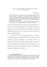 Acceso a datos del padrón de militantes de un partido político - Caipec