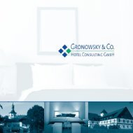 Imagebroschüre der Gronowsky & Co. Hotel Consulting