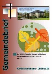 Gemeindebrief Oktober 2012 - EFG Hamm Bockum-Hövel