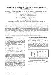 Variable Step Three-Point Block Methods for Solving Stiff ... - Wseas.us