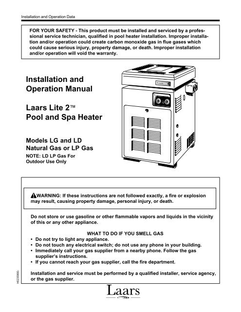 Laars Pool Heater Wiring Diagram - All Diagram Schematics on