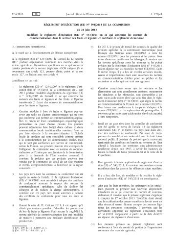Règlement d'exécution (UE) - EUR-Lex - Europa