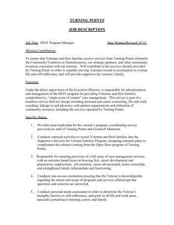 shift manager zamboni driver job description    job description – ssvf program manager   turning points