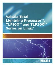 Vaisala Total Lightning Processor™, TLP100™ and TLP200 ...