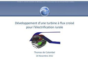 Développement d'une turbine à flux croisé pour l ... - Hydro 21