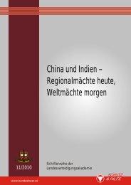 China und Indien - Regionalmächte heute, Weltmächte morgen (11 ...