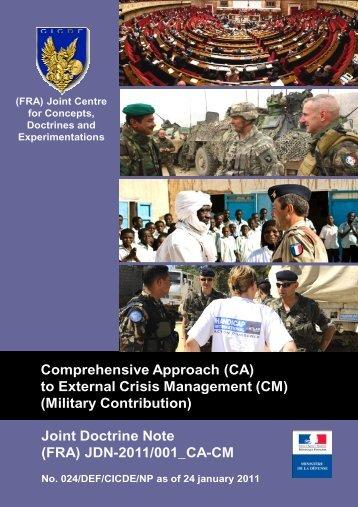 (FRA) JDN-2011/001_CA-CM - CICDE - Ministère de la Défense