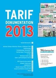 Tarifdokumentation der Davoser Zeitung als pdf - Prättigauer Post