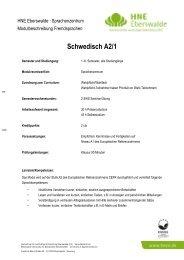 Schwedisch A2/1 - Hochschule für nachhaltige Entwicklung ...