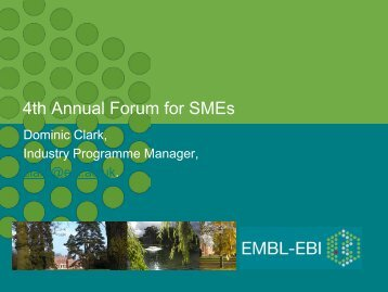 Overview of EMBL-EBI data resources and services - European ...