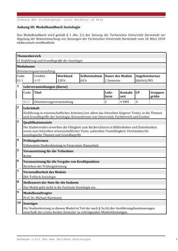 Modulhandbuch Joint-BA Soziologie - Fachbereich Gesellschafts ...