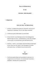Badeordnung Hallenbad - Stadt Uhingen