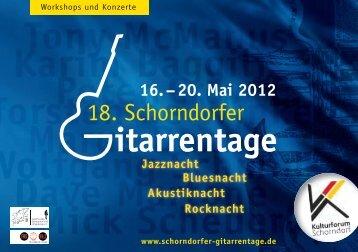 18. Schorndorfer - Schorndorfer Gitarrentage
