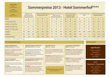 Preisliste Sommer 2013.indd - Hotel Sommerhof