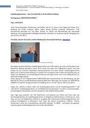 1 Ausbildungsbausteine – eine neue Qualität in der ... - QualiBe