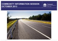 Community Information Session - October 2013 - Roads and ...