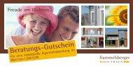 Beratungs-Gutschein - Frammelsberger Holzhaus