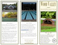 2013 WVS&RC Brochure - Wood Valley Swim & Racquet Club