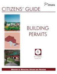 citizens' guide - Ministry of Municipal Affairs and Housing - Ontario.ca