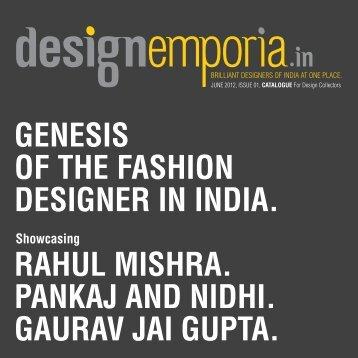 Genesis of the fashion designer in India - Designemporia.in