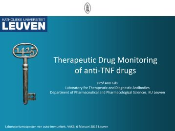 Therapeutic Drug Monitoring of anti-TNF drugs - WordPress.com