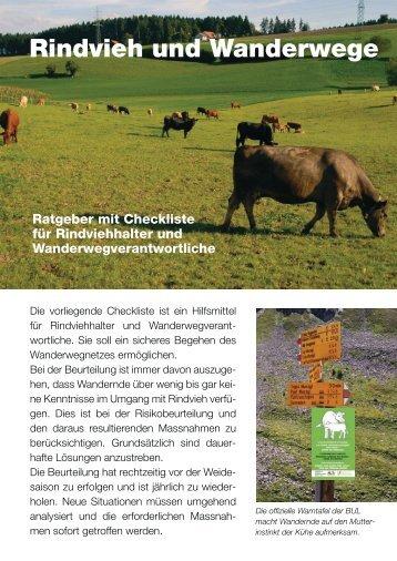 Rindvieh und Wanderwege - SBV