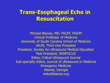 TEE in Resuscitation - CECentral.com