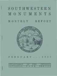 SOUTHWESTERN M O N U M E N T S - National Park Service History