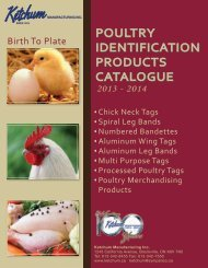 poultry identification products - Ketchum Manufacturing Inc.