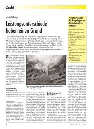 Leistungsunterschiede in der Sauenhaltung I 2002 - Dr. Engels